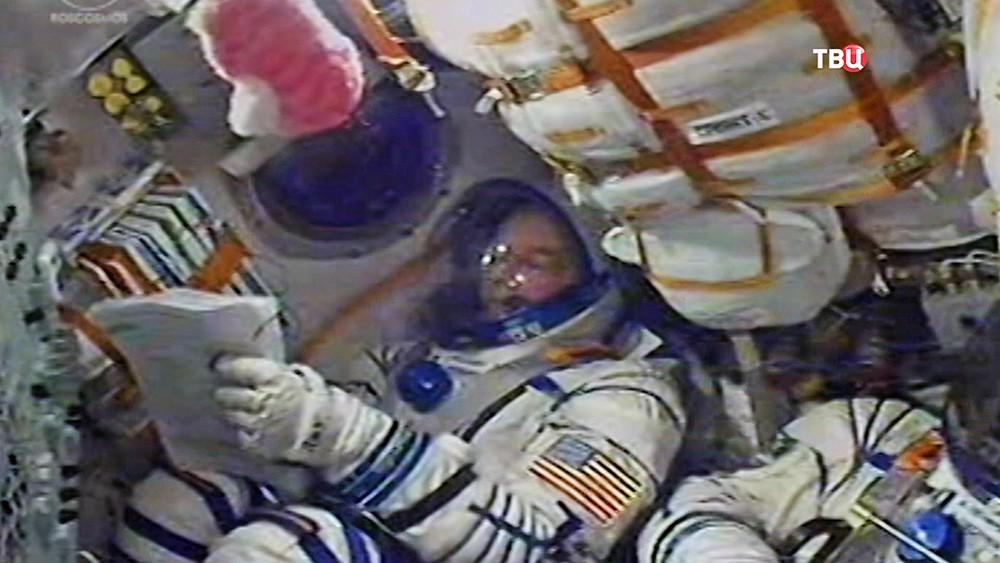 Астронавнт на борту корабля