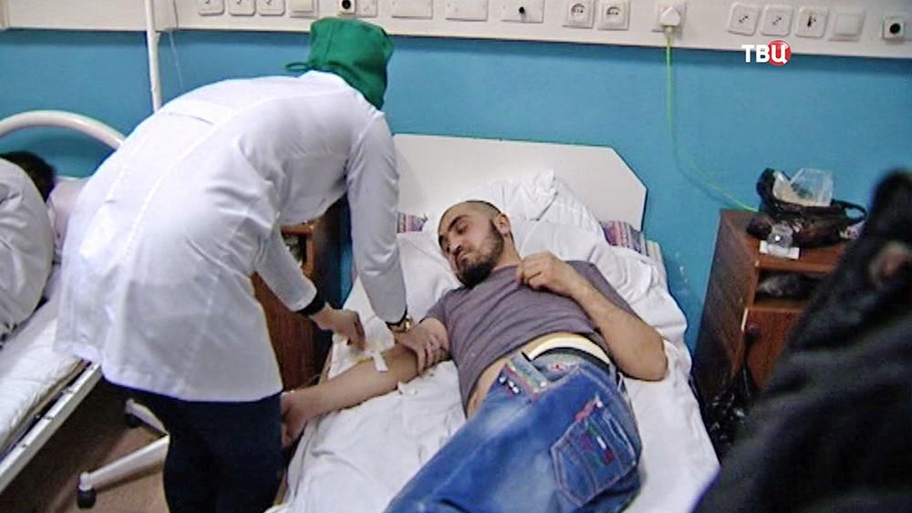 Пострадавшие при взрыве АЗС в Кизляре