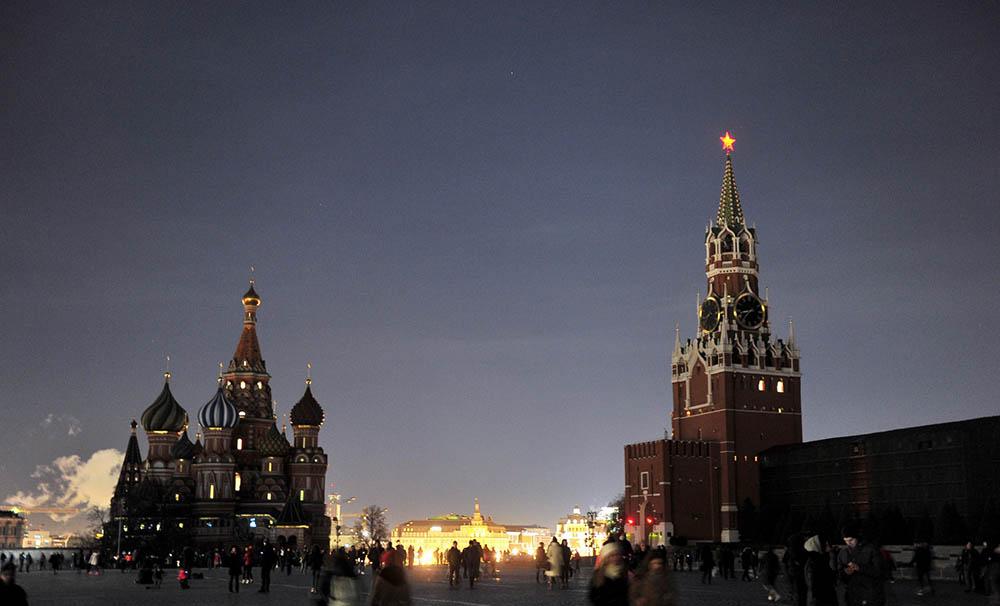 """Красная площадь без подсветки в """"Час Земли"""""""