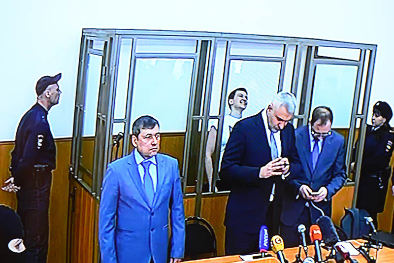 Оглашение приговора по делу Надежды Савченко в зале заседаний Донецкого городского суда Ростовской области