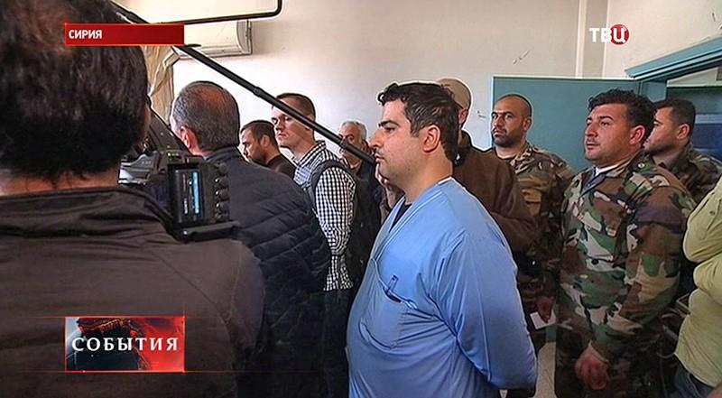 Раненые военные Сирии