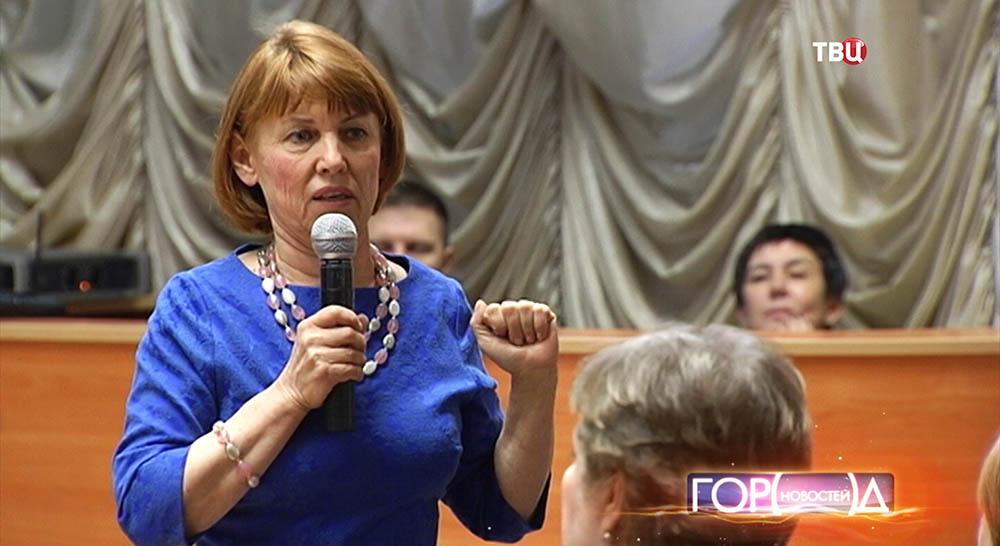 Татьяна Барсукова во время выступления