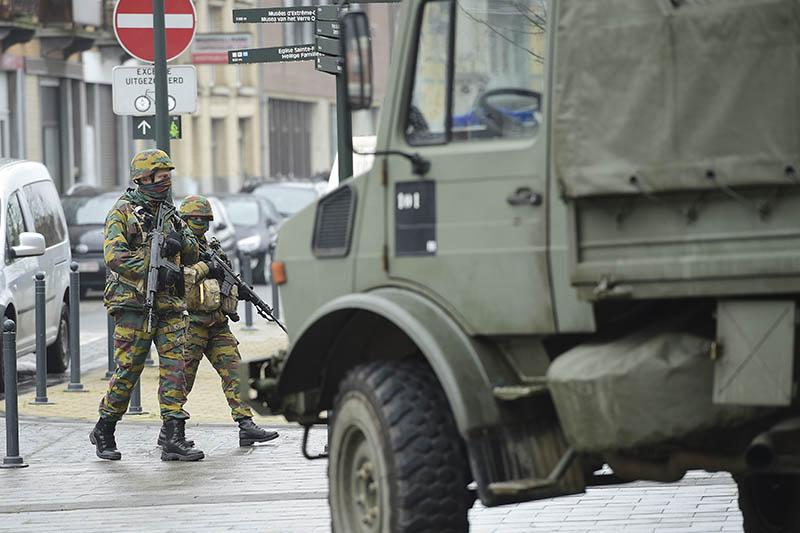 Военные обеспечивают безопасность в Брюсселе