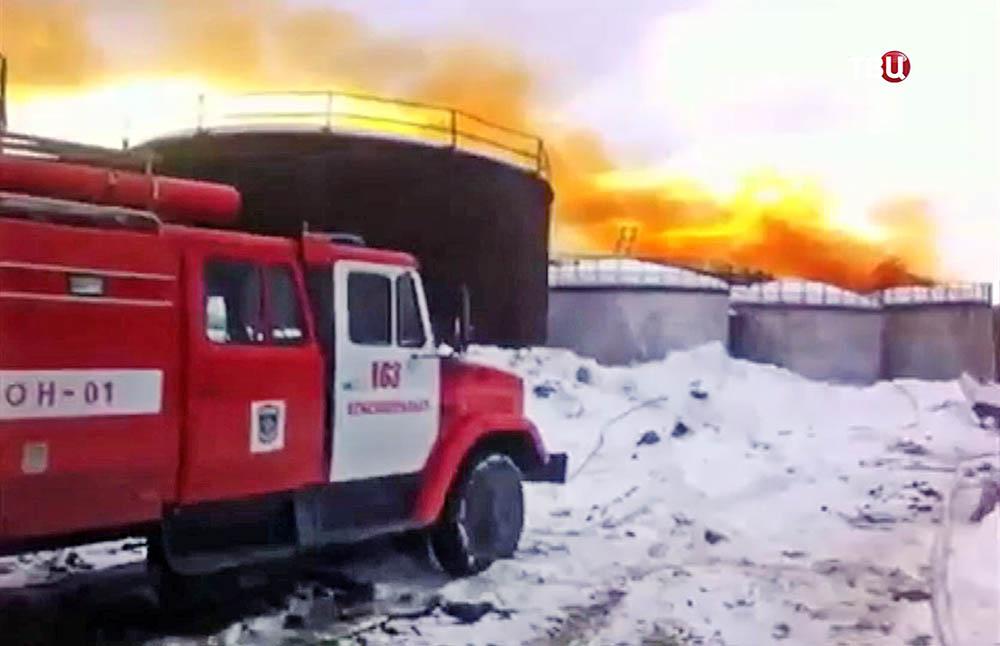 Пожар на Красноуральском химическом заводе