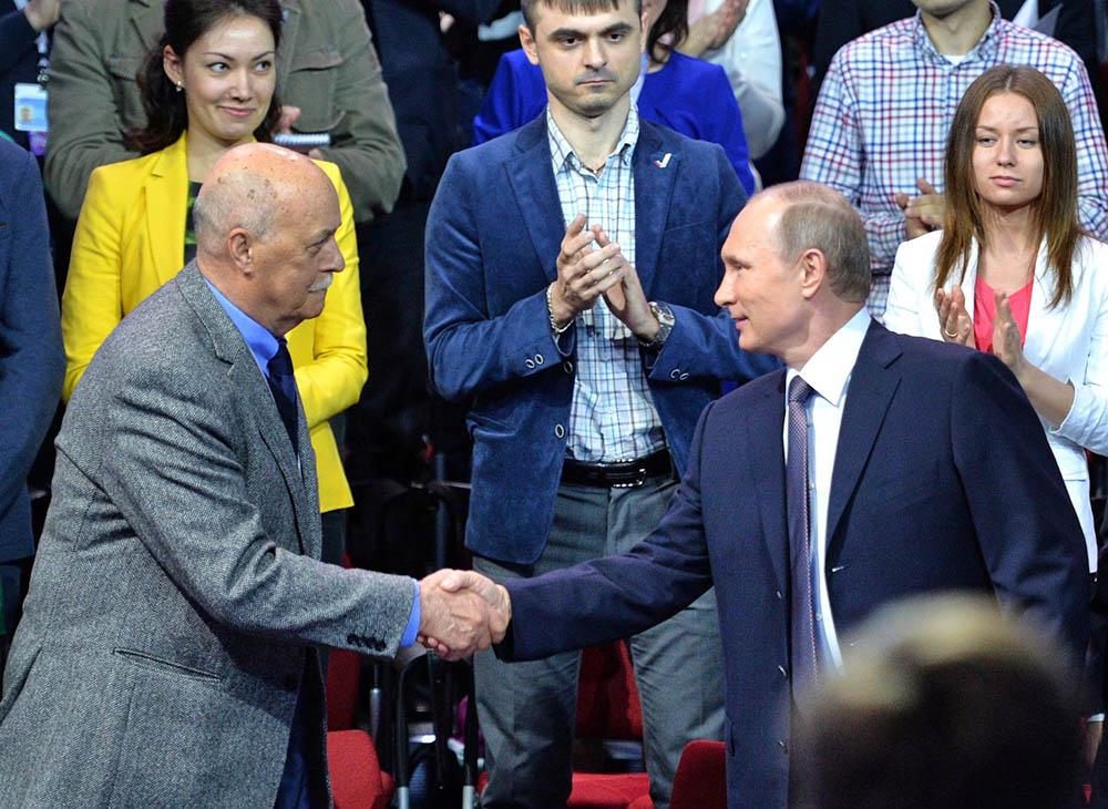 Владимир Путин и Станислав Говорухин