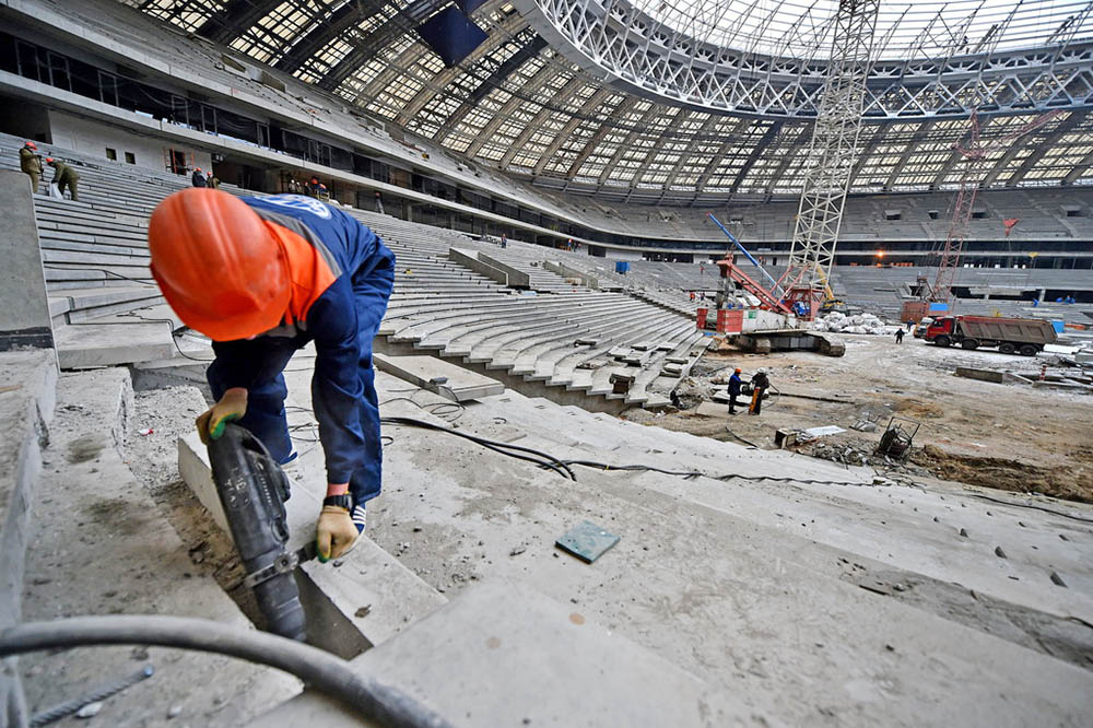 """Реконструкции Большой спортивной арены """"Лужники"""""""