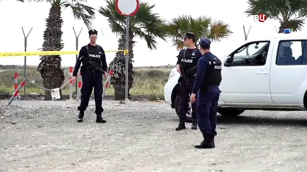 Полиция Кипра на месте происшествия