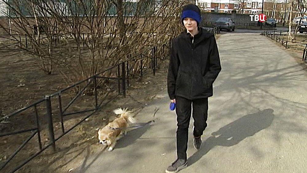 Школьник, спасший собаку из горящей квартиры