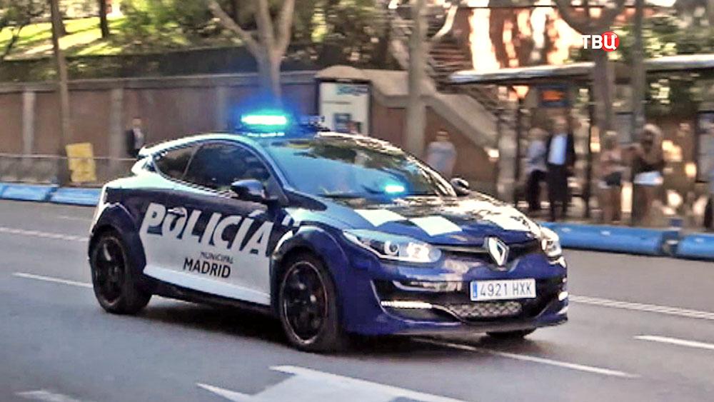 Машина полиции Испании в Мадриде