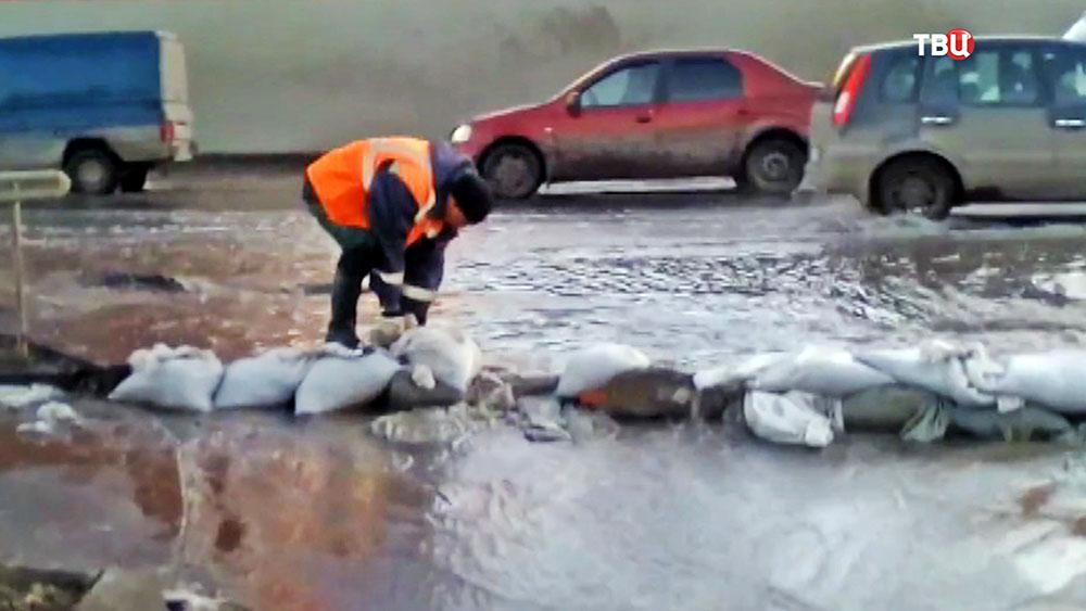 Борьба с последствиями паводка