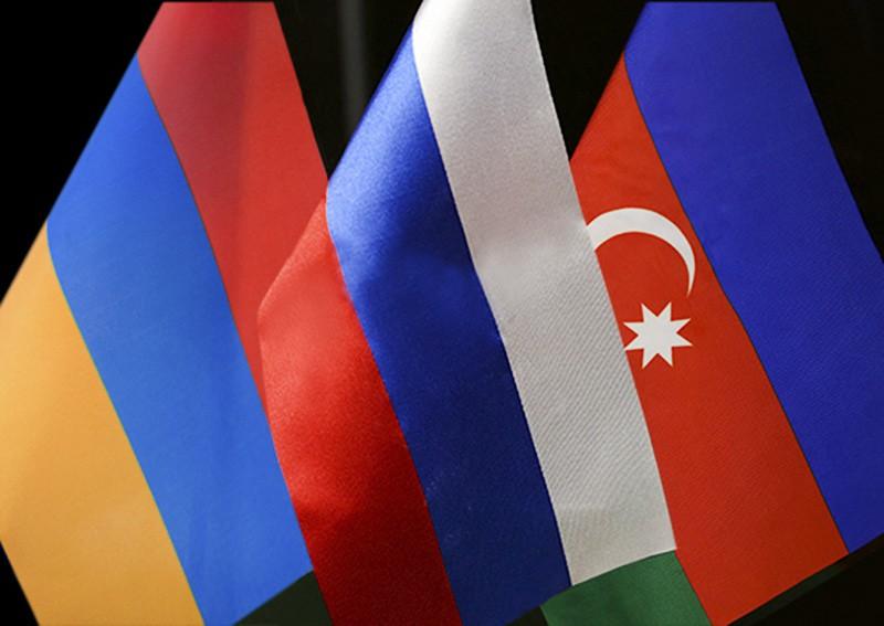 Флаги России, Армении и Азербайджана