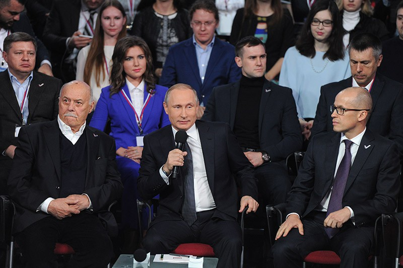Президент России Владимир Путин принимает участие в работе III Медиафорума Общероссийского народного фронта (ОНФ)