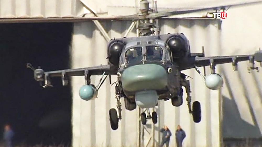 Военный вертолет ВКС России