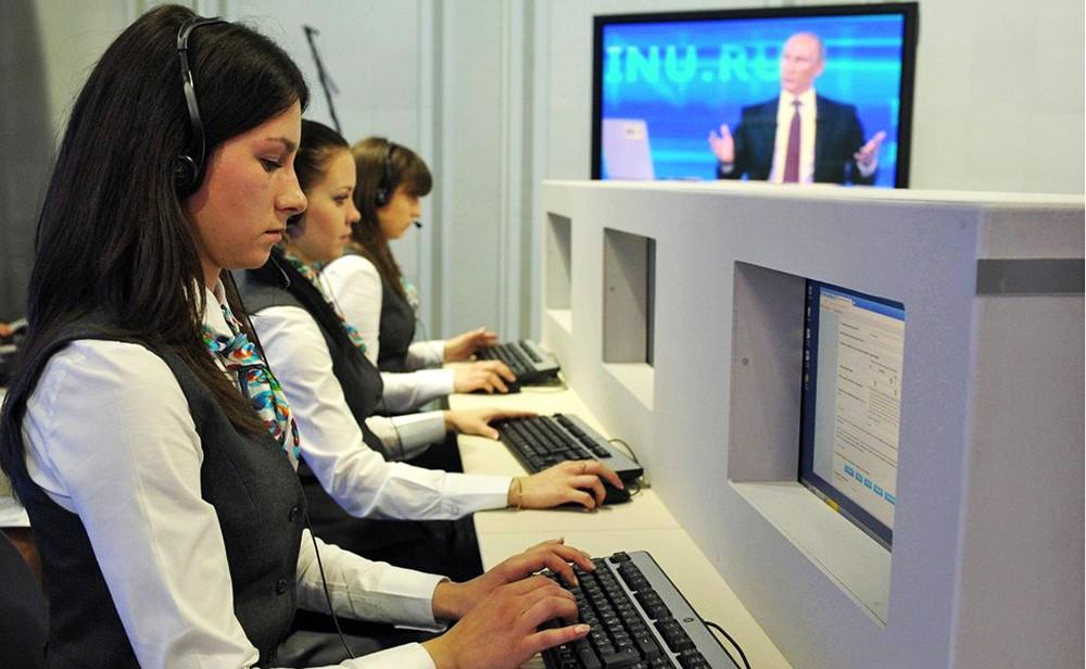 Операторы прямой линии с Владимиром Путиным
