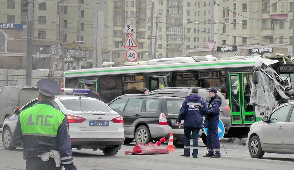 ДТП с участием рейсового автобуса
