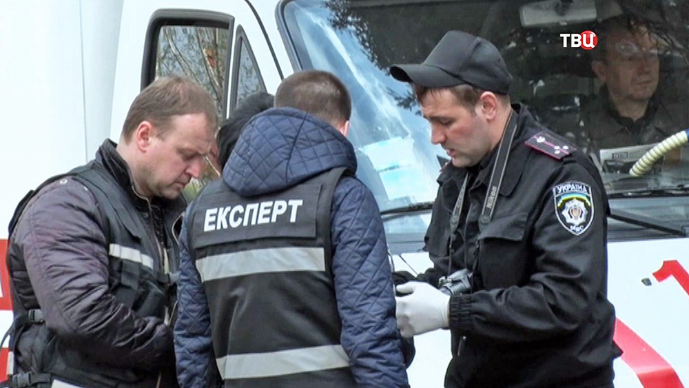 Украинские криминалисты на месте происшествия