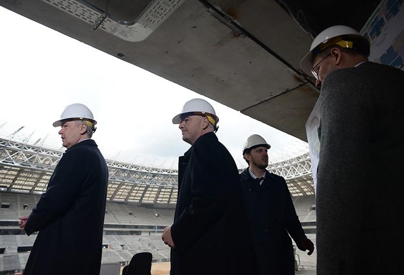 Мэр Москвы Сергей Собянин и президент Международной федерации футбола (ФИФА) Джанни Инфантино