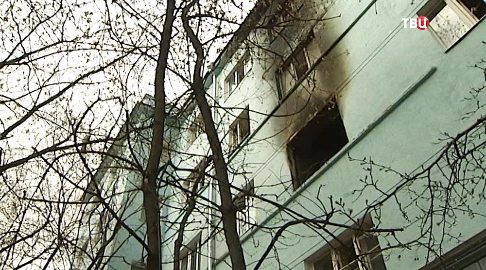 Здание общежития МАИ после пожара
