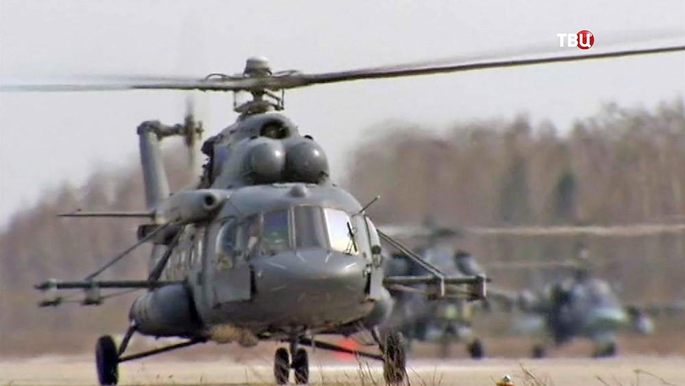 Военные вертолеты ВКС России