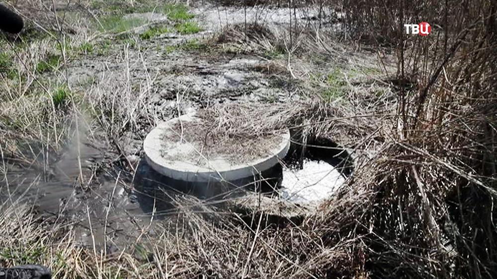 Сломанная канализационная система