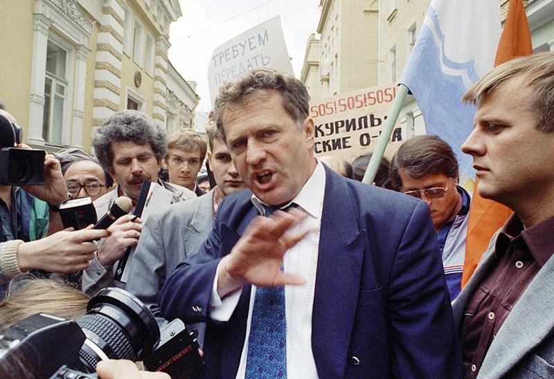 Лидер партии ЛДПР Владимир Жириновский на митинге
