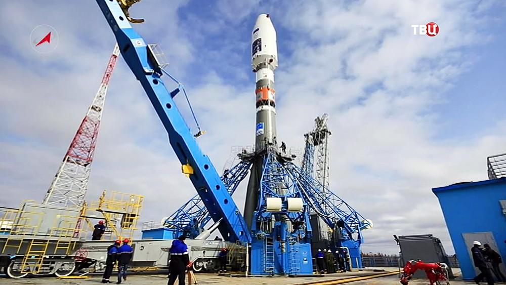 """Ракета-носитель """"Союз"""" на стартовой площадке космодрома """"Восточный"""""""