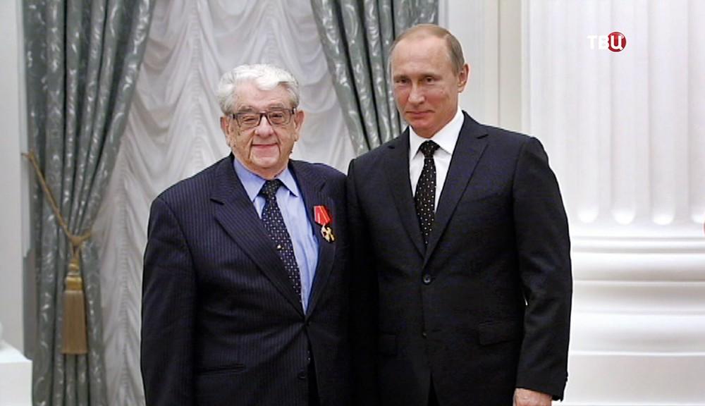 Журналист Валентин Зорин и президент России Владимир Путин