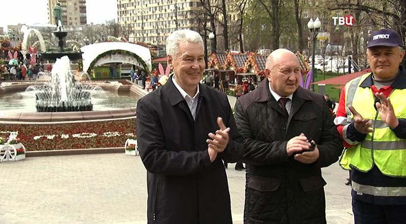 Сергей Собянин на открытии сезона фонтанов