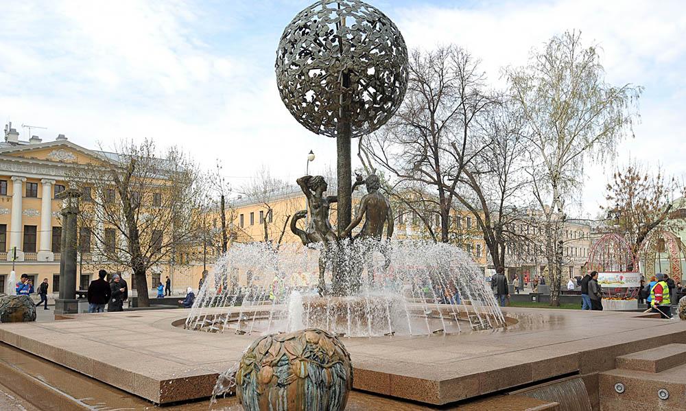 Фонтан на Новоцузнецкой