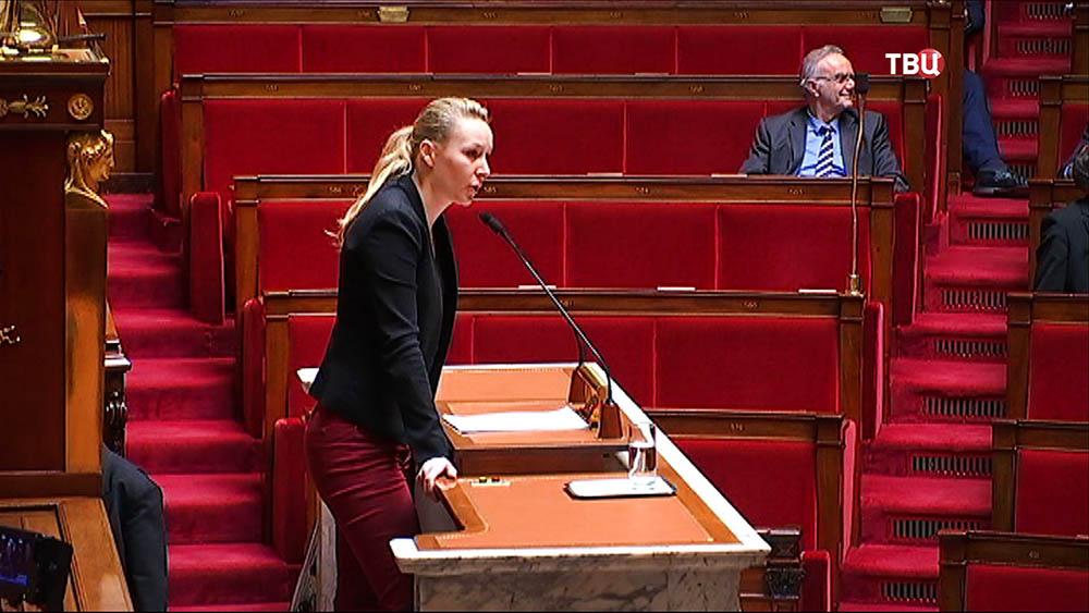 Марион Марешаль Ле Пен на заседании парламента Франции