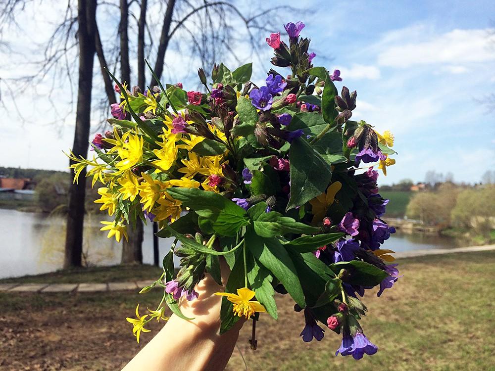 Весенний букет цветов
