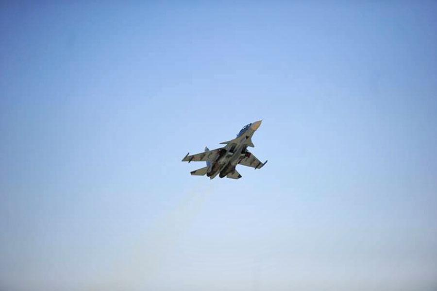 Истребитель Су-27М авиационной группировки ВКС России