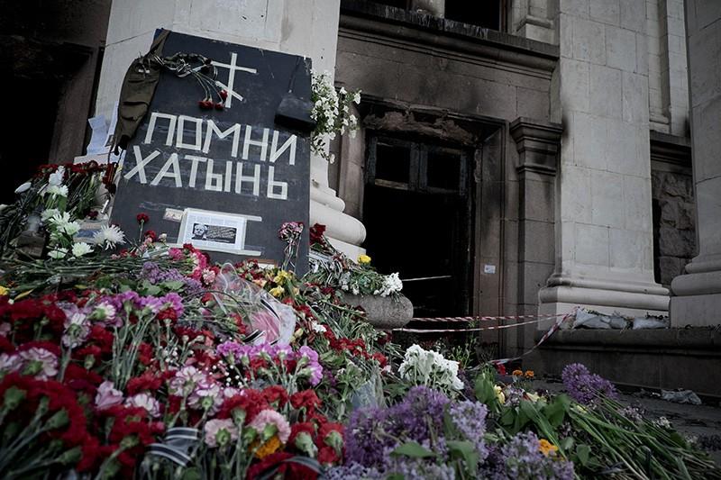 Траур по погибшим в Доме профсоюзов в Одессе