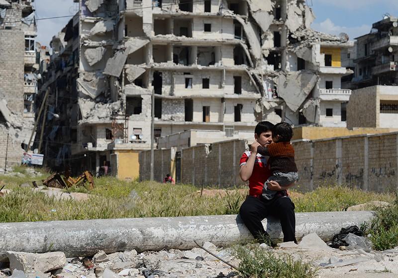 Сирия, жители города Алеппо