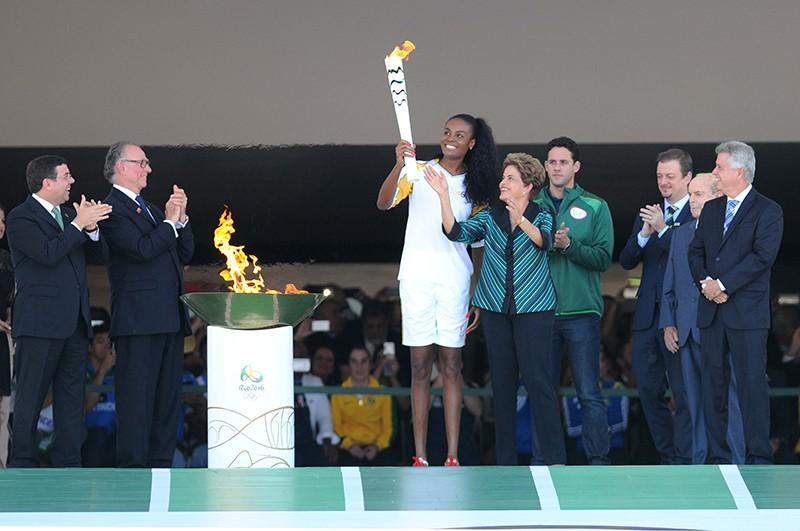 Олимпийский огонь в Бразилии