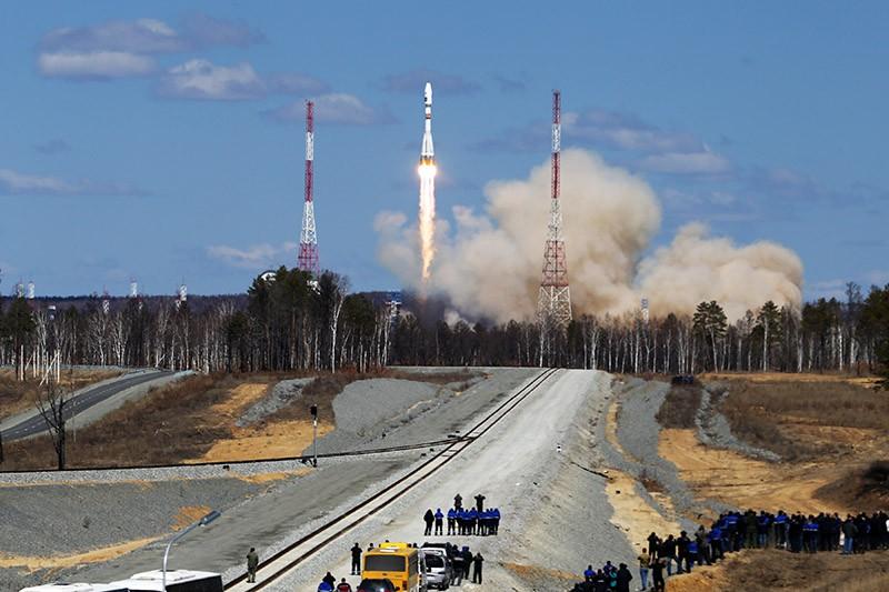 """Старт ракеты-носителя """"Союз-2.1а"""" с космодрома """"Восточный"""""""