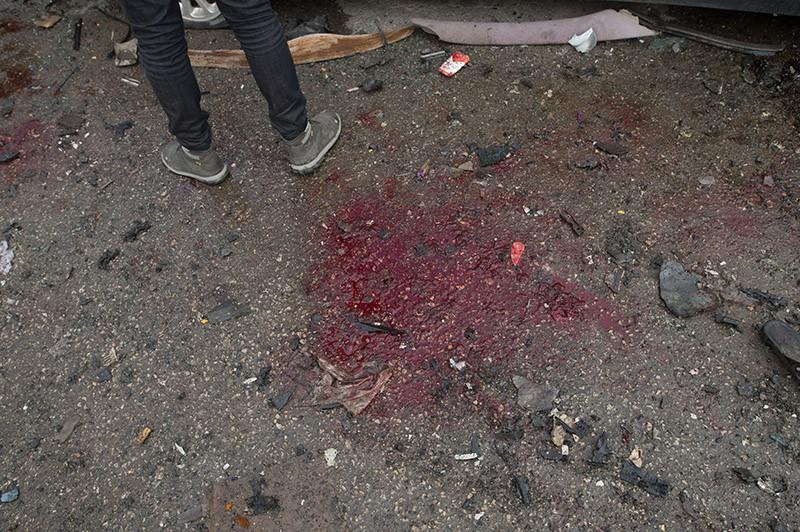 На месте террористического акта в сирийском городе Хомс