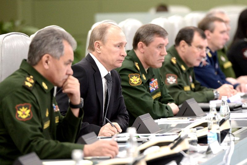 Совещание Владимира Путина с военными