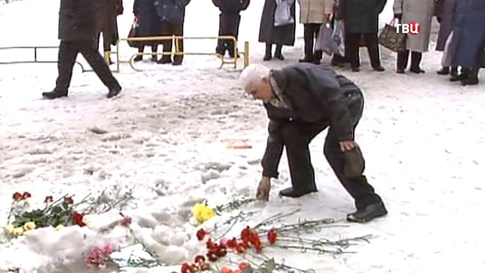 Место убийства мэра города Дзержинский Виктора Доркина
