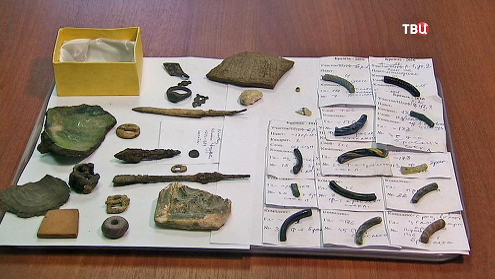 Археологические находки на месте снесенного корпуса в Кремле