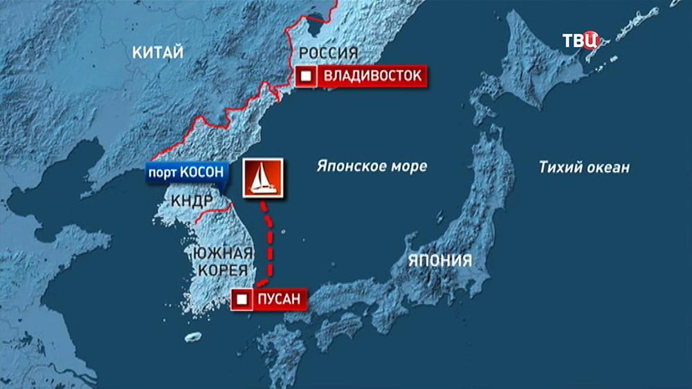Яхты со спортсменами задержаны в КНДР