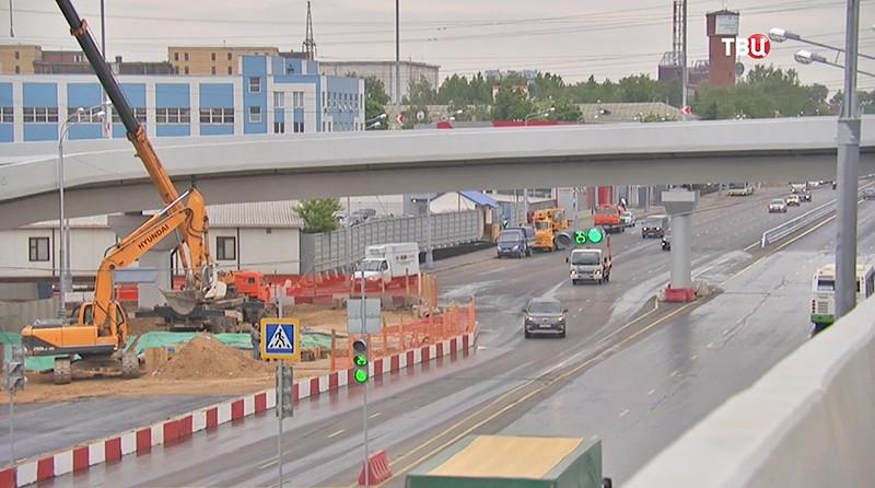 Эстакада на пересечении улицы Рябиновая и Троекуровского проезда