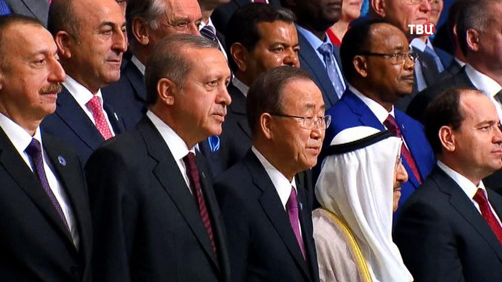Президент Турции Реджеп Тайип Эрдоган и генсек ООН Пан Ги Мун