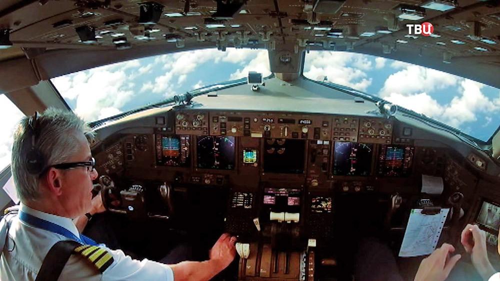 Пилоты пассажирского самолета
