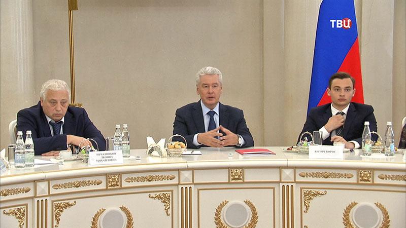 Мэр Москвы Сергей Собянин на встрече с победителями Всероссийской олимпиады школьников