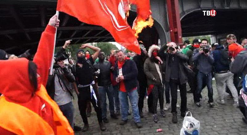 Акция протеста в Брюсселе