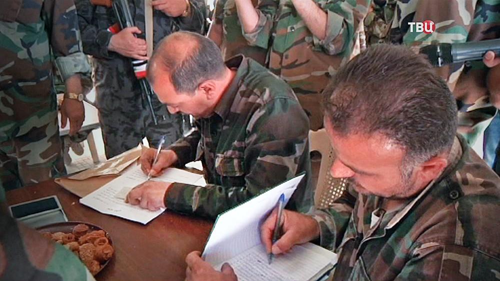 Заключение соглашения о перемирии в Сирии