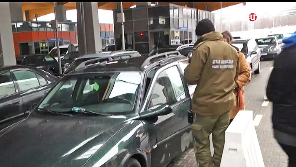 Полиция Словакии на кпп с границей Украины