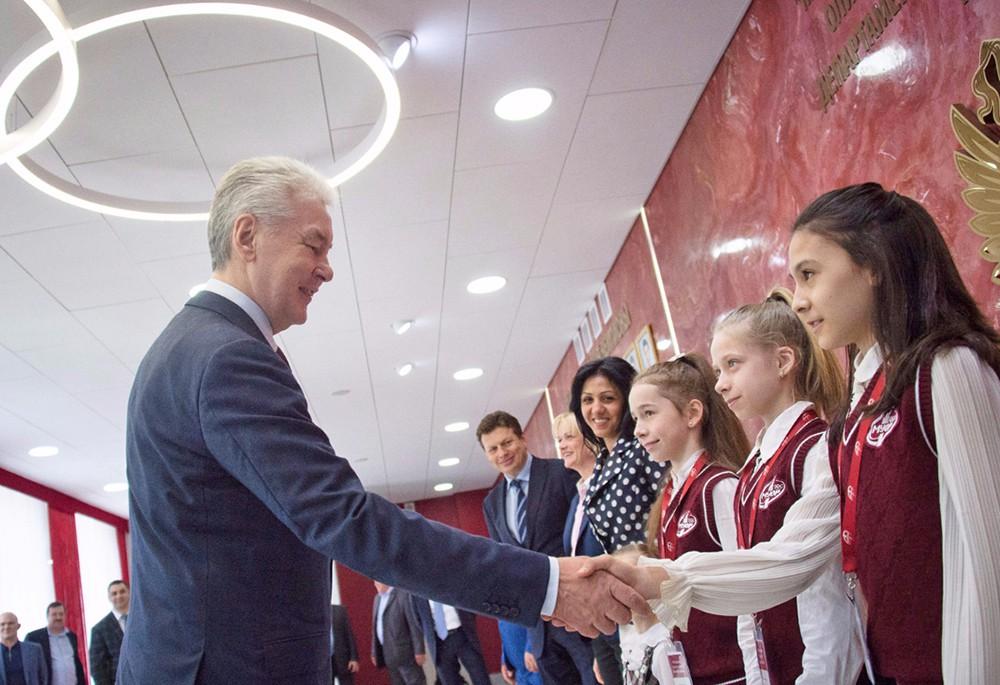 Сергей Собянин посетил Московское среднее специальное училище олимпийского резерва № 1