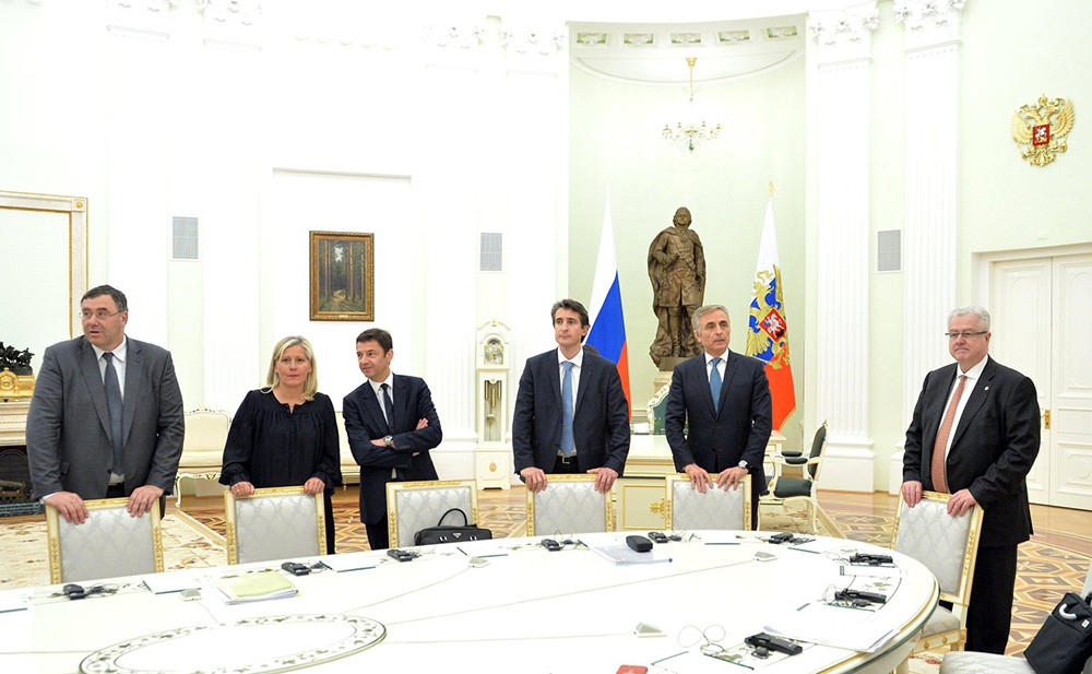 Представители деловых кругов Франции в Кремле